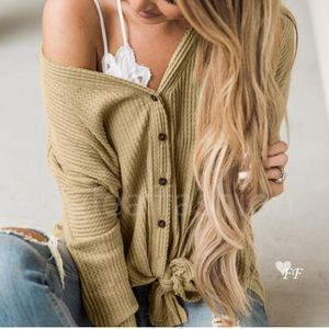 Fall knit button down sweater